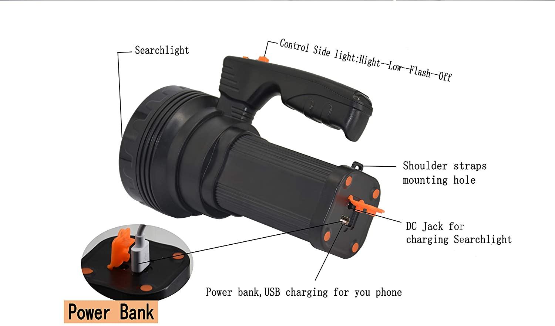Bright Rechargeable handheld LED Flashlight